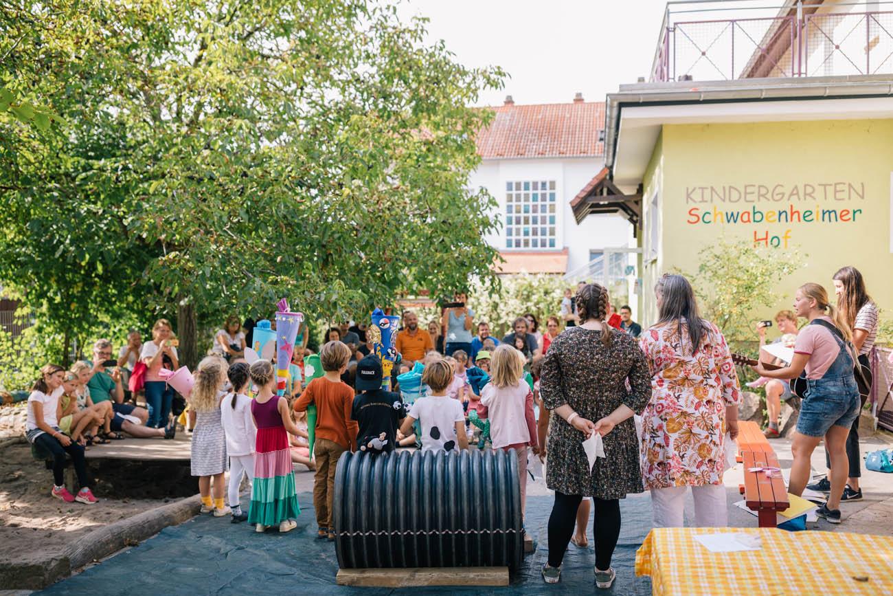 Abschiedsfeier der Schulanfänger im Kindergarten Schwabenheimer Hof